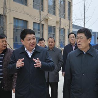 2008市委书记王玉君到泰森日盛费县探沂园区调研