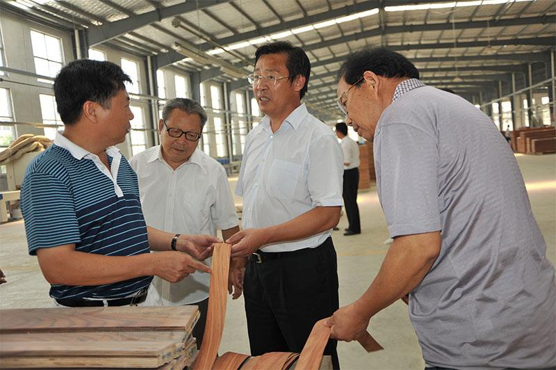 2012年原临沂市委常委、政法委书记庄廷敦一行来企考察