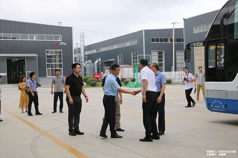 国有企业高质量发展干部下基层服务队来企参观调研